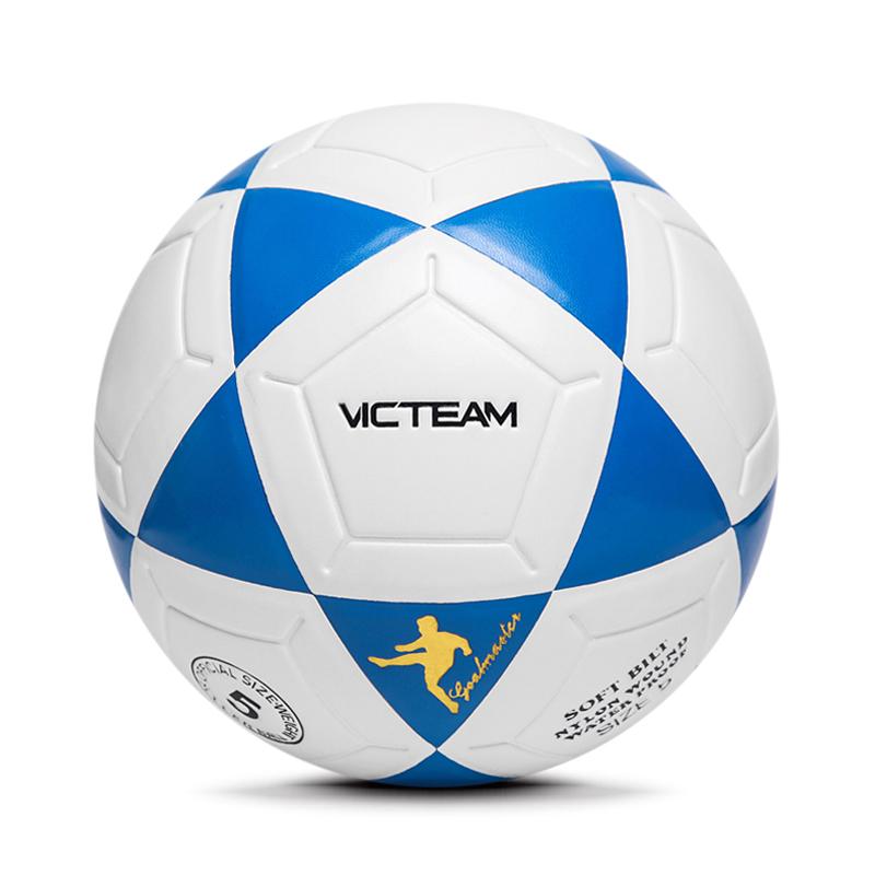 Plain White Football Soccer Ball
