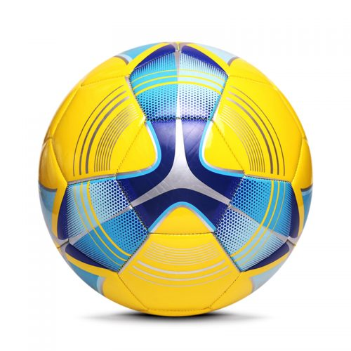 Yellow Machine Sewing Soccer Ball