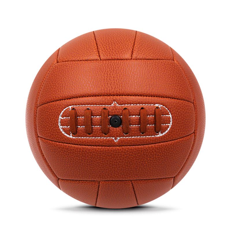 machine-stitched retro football